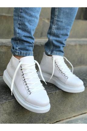 Trend Sultan Yüksek Taban Beyaz Erkek Ayakkabı 2