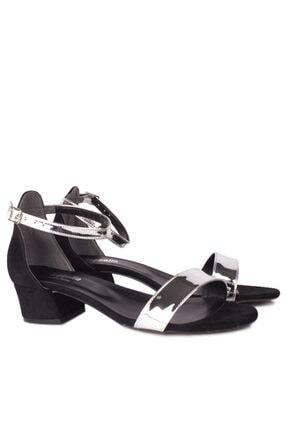 Fitbas 520033 771 Kadın Gümüş Topuklu Büyük & Küçük Numara Ayakkabı 1