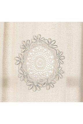 Buldan CSN Tekstil Buldan Otantik Işlemeli Yelpaze Keten Perde 2