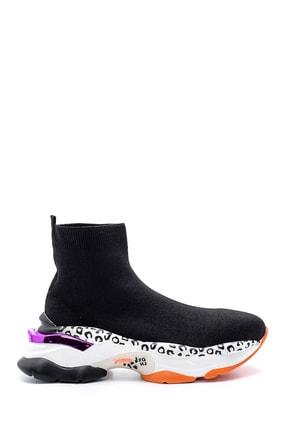 Derimod Kadın Kalın Renkli Tabanlı Çorap Bot 0