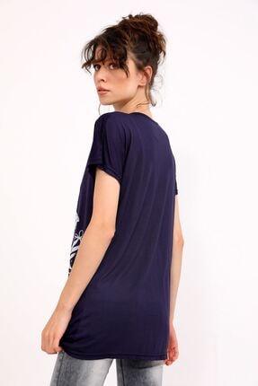metropol tekstil Krt-050 Desenli Tshirt Lacivert 4