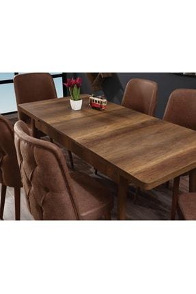 Ervo Venüs Premier Yemek Masa Takımı 6 Sandalyeli – Kahverengi 2