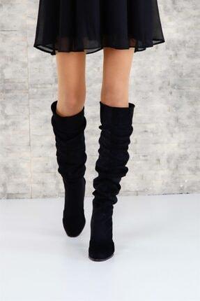 ShoeTek 1375 Kadın Çizme Siyah Süet 2