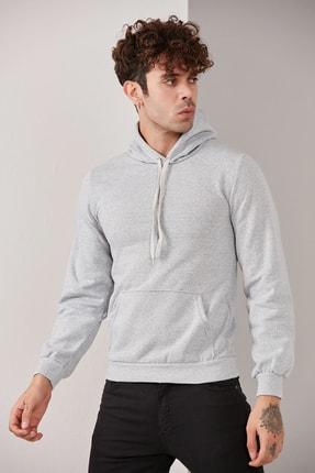 CATSPY Erkek Kapüşonlu Basic Örme Sweatshirt 1