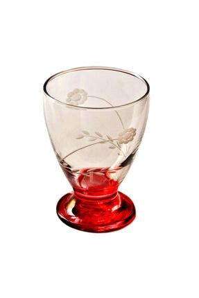 BAŞAK 41011 Çın Çın 12 Adet (Kırmızı Papatya) Su-meşrubat Bardağı 0