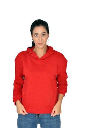bck Kırmızı Kapüşonlu Sweatshirt 1