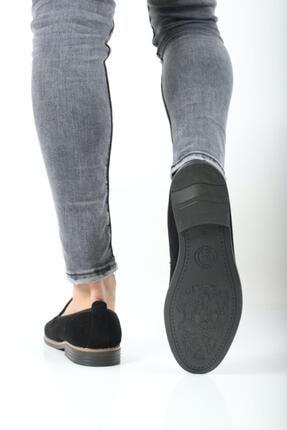 Oksit Erkek Siyah Hyman Püskülü Loafer Ayakkabı 1