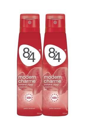 8x4 Modern Charme Kadın Deo Sprey 150 ml 2 Adet 0