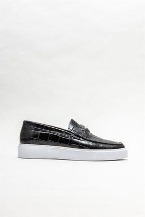 Picture of Erkek Siyah Deri Günlük Ayakkabı