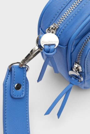Stradivarius Kadın Mavi Kumaş Çapraz Askılı Çanta 2
