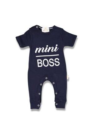 Murat Baby Unisex Bebek Lacivert Mini Boss Kısa Kollu Tulum 0