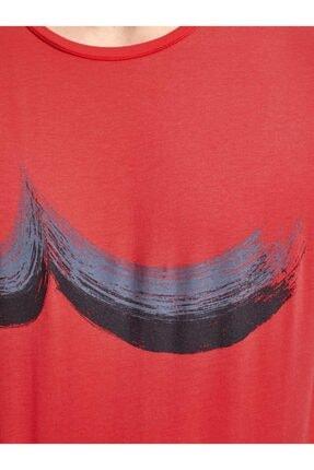 Ltb Erkek  Kırmızı  Baskılı  Kısa Kol Bisiklet Yaka T-Shirt 0122084544601460000 4