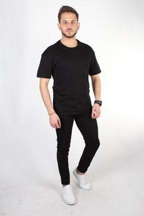 YASAR GİYİM Erkek Siyah Oversize T-shirt 3