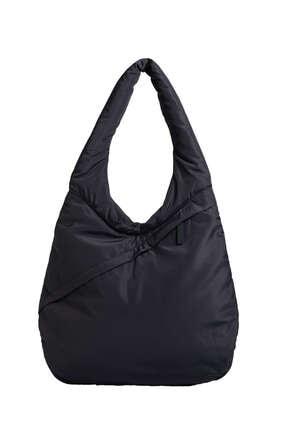 Kadın Siyah Dolgulu Oval Çanta resmi