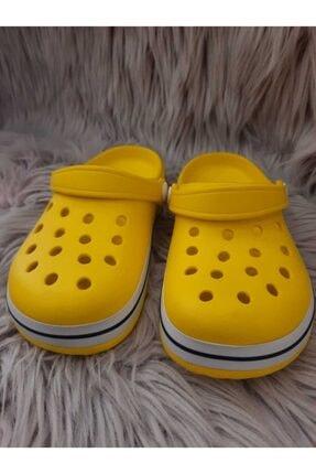 Akınalbella Çocuk Sarı Beyaz Lacivert Crocs Terlik 2