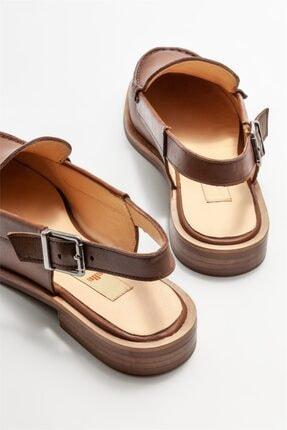 Elle Kadın Taba Deri Düz Ayakkabı 3