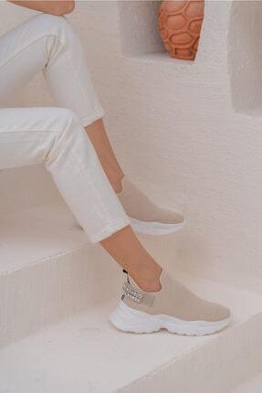 ANGELİNA JONES Costel Kadın Nude Trıko Taşli Ayakkabi 3