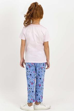 US Polo Assn U.s. Polo Assn Lisanslı Krem Kız Çocuk Pijama Takımı 2