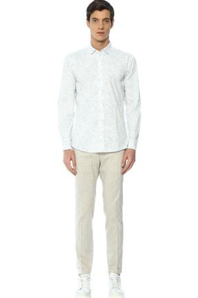 Network Erkek Beyaz Baskılı Gömlek 2400404824178 1