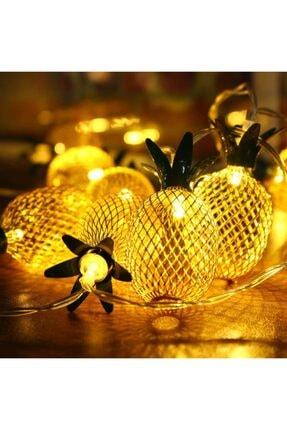 Taled 3 Boyutlu Animasyonlu Pineapple Ananas Şerit Led Işık 1 M 10 Led Günışığı Dekoratif Led 2