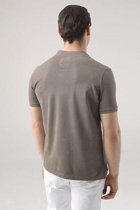 D'S Damat Erkek Vizon Regular Fit Pike Dokulu T-shirt 3