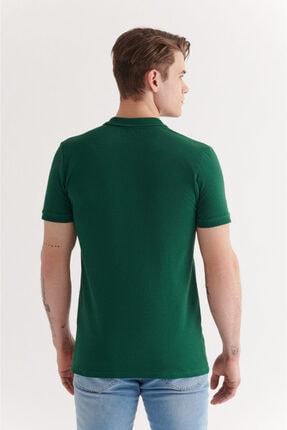 Avva Erkek Yeşil Polo Yaka Düz T-shirt  A11b1146 2