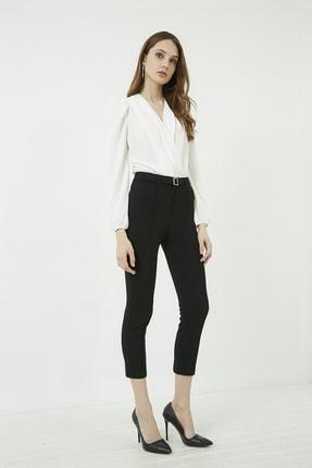 Vis a Vis Kadın Siyah Önü Biyeli Tokalı Pantolon 20KPA768K101 2