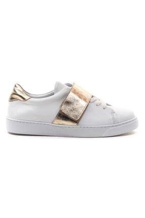 GRADA Kadın Beyaz Hakiki Deri Önden Tek Bantlı Sneaker Ayakkabı 1