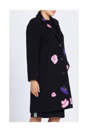 Christopher Kane Çiçek Detaylı Lacivert Palto 2