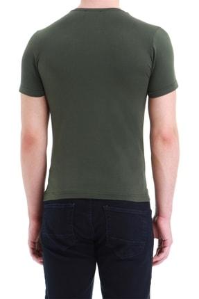 Efor Ts 749 Slim Fit Haki Spor T-shirt 3
