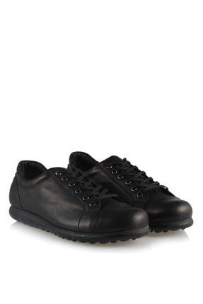Hakiki Deri 40-41-42-43 Numara Siyah Günlük Büyük Numara Bayan Ayakkabı 10424SYC