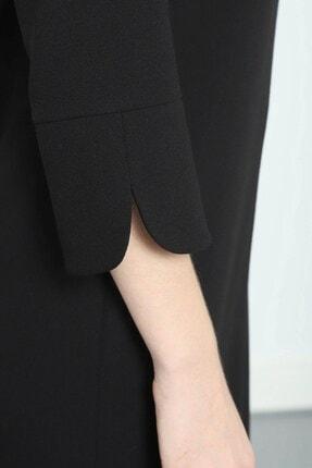 Journey Elbise- V Yaka Turvakar Kol, Kol Yırtmaç Detaylı 2