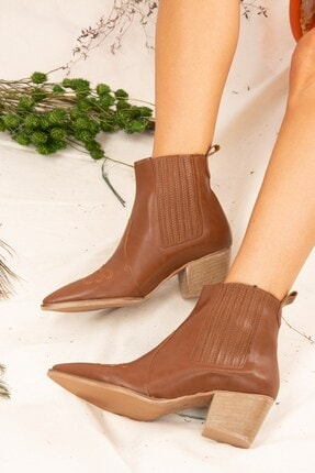 Fox Shoes Taba Kadın Bot J643233709 2