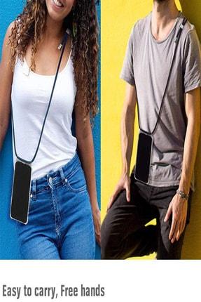TEKNOMODA Xiaomi Redmi Note 9 Pro Siyah Şeffaf Boyun Omuz Askılı Ipli Kordonlu Kılıf 1