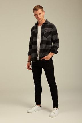 Tarz Cool Erkek Antrasit Ekoseli Oduncu Gömlek-odg001r02 1