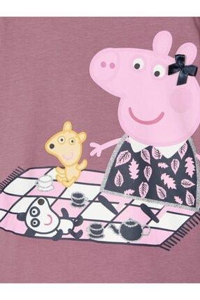 name it Kız Çocuk Pembe Peppa Pig Baskılı T-shirt 2