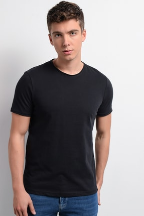 Rodi Jeans Rodi Rd19ye279979 Siyah Erkek Fırçalı Süprem Bisiklet Yaka T-shirt 3