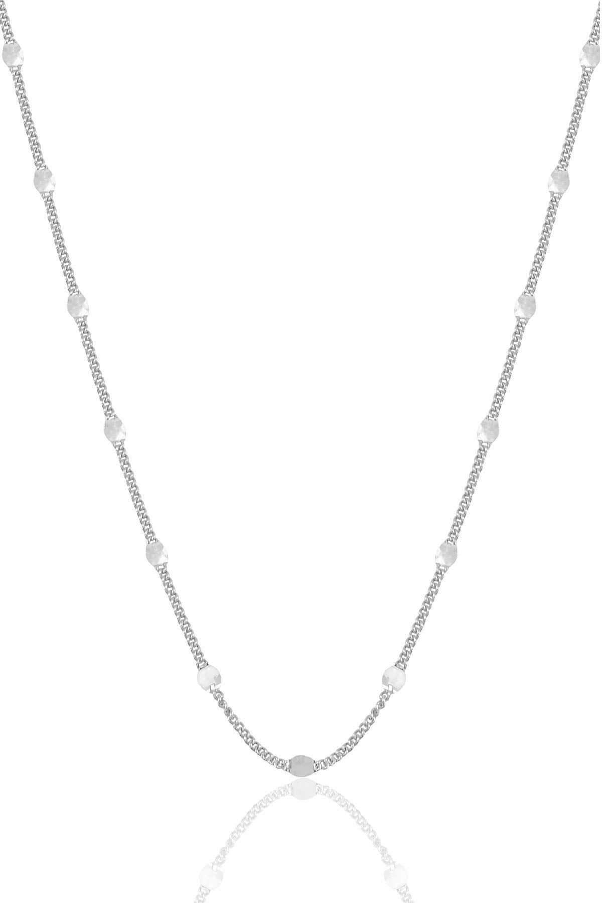 Söğütlü Silver Gümüş Rodyumlu  Pullu Gurmet  Zincir. 0