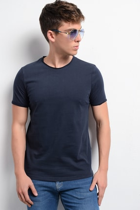 Rodi Jeans Rodi Rd19ye279979 Lacivert Erkek Fırçalı Süprem Bisiklet Yaka T-shirt 1