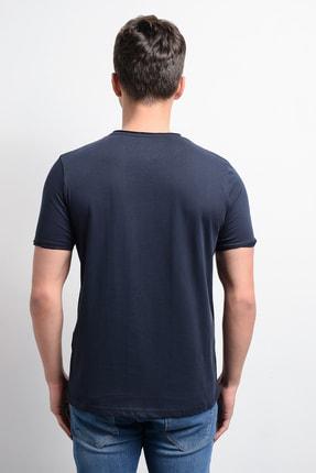 Rodi Jeans Rodi Rd19ye279979 Lacivert Erkek Fırçalı Süprem Bisiklet Yaka T-shirt 4