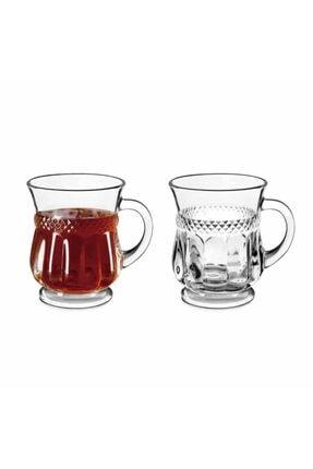 Perotti Marea Kulplu 6'lı Cam Çay Bardağı 0