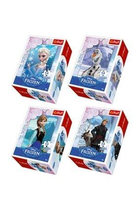 DİSNEY Frozen Mini Puzzle Set 4 Adet 54 Parça Puzzle Elsa Anna Olaf Kristoff 0