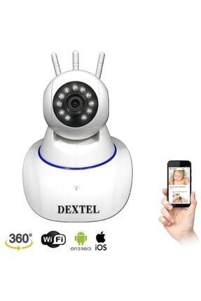 DEXTEL 360º Gerçek Hd Wifi Kablosuz 3 Antenli Ip Bebek Ve Güvenlik Kamerası 1