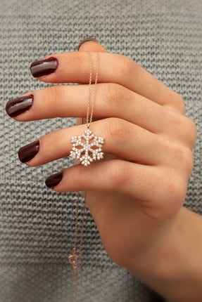 Papatya Silver Kartanesi Kolye - Rose Gold Kaplama 925 Ayar Gümüş - Uvps100177 2