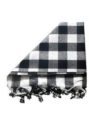 AKSDEN DEKORATİF EV ÜRÜNLERİ 3 Adet Çok Amaçlı Kare Masa Örtüsü-sofra Bezi- Piknik Örtüsü 140cm 1