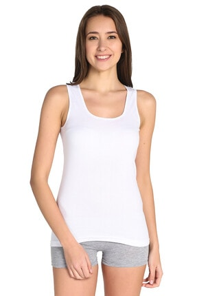 Tutku Kadın Beyaz 3'lü Paket Atlet Elf568t0136ccm3 0