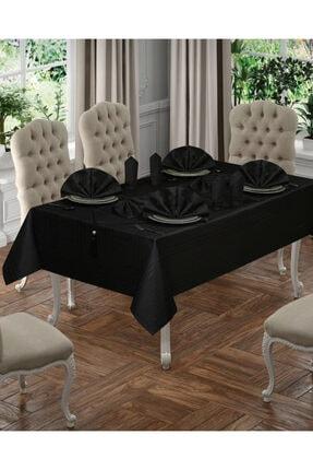 SAFİR Siyah Masa Örtüsü Seti 12 Kişilik 26 Parça 0