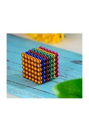 CAN OYUNCAK 6 Renkli 5mm 216 Adet Neocube Neodyum Mıknatıs Küp Sihirli Manyetik Toplar 2