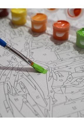 3D Art Sayılarla Boyama Tablo Seti Kanvas Fırça Boya Dahil 40x50 CM - Göl Manzarası 2