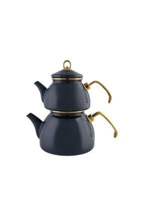 Karaca Retro Emaye Antrasit Çaydanlık 1